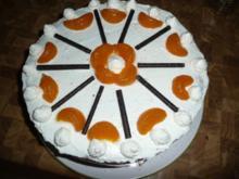 Orangen -Torte zu Vaters Geburtstag. - Rezept
