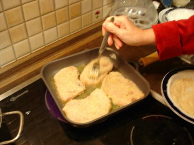 Schnitzel mit Spargel und Kartoffeln - Rezept - Bild Nr. 8
