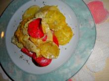Apfel-Kartoffel-Gratin mit Salami - Rezept