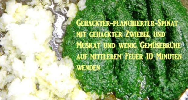 Hühnerbrust-Filets auf Champignon-Limone-Cognac-Sahne und Spinat - Rezept - Bild Nr. 3