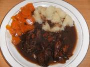 Fleisch: Lammhaxe, geschmort in Portwein - Rezept