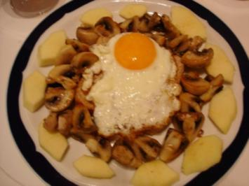 Rezept: Champignon-Spiegelei-Toast