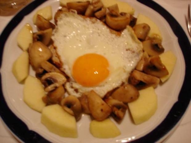 Champignon-Spiegelei-Toast - Rezept - Bild Nr. 4