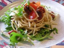 Spaghettisalat mediteran - Rezept