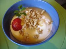 Jogurt-Quark mit Honig und Wallnüssen - Rezept
