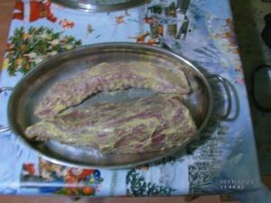 Rinderfilet mit Bratensoße, Herzoginkartoffeln und Rotkohl - Rezept
