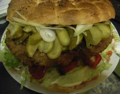 Riesen-Burger  auch Party- Buffet - Rezept