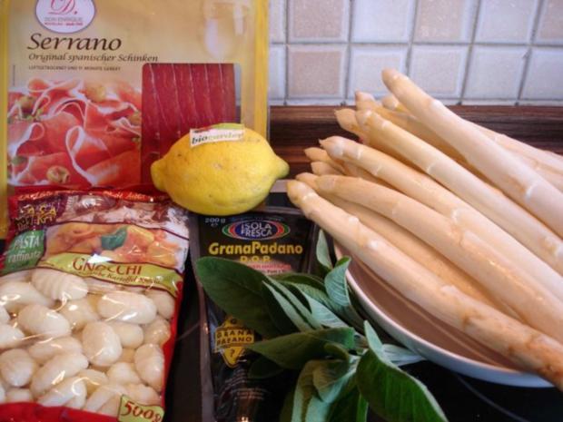 Spargel mit Schinken, Salbei und Parmesan - Rezept - Bild Nr. 2
