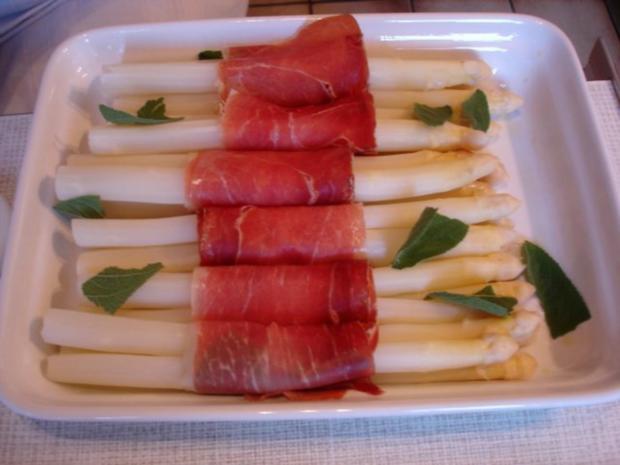 Spargel mit Schinken, Salbei und Parmesan - Rezept - Bild Nr. 14