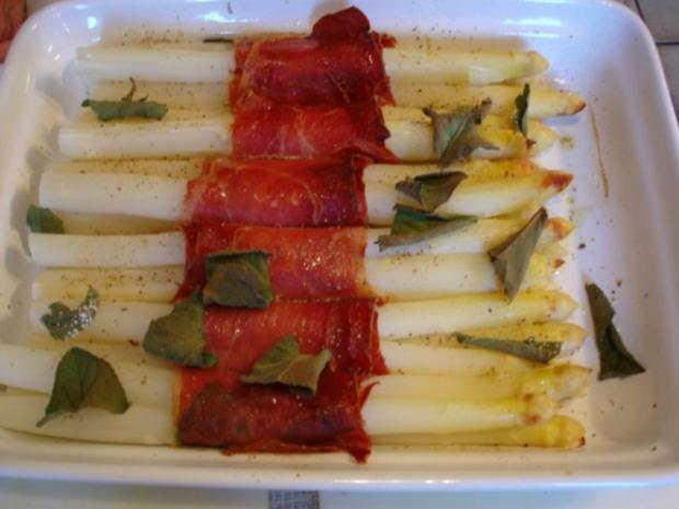 Spargel mit Schinken, Salbei und Parmesan - Rezept - Bild Nr. 17