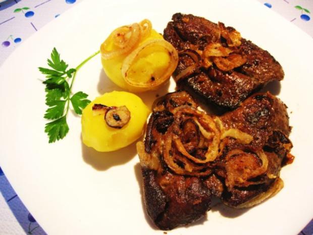 Lammleber mit Knusperzwiebeln - Rezept
