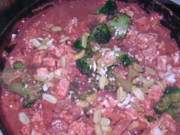 Paneer, Broccoli und Champignons in Tandoorisauce - Rezept