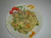 boto's Reistopf mit Fleischklöschen - Rezept