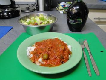 Leichte Küche: Gehacktessauce mit Reis