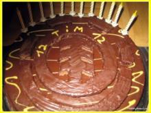 Motivkuchen für Skater - Element - Heidelbeer-Schokoladen-Kuchen - Rezept