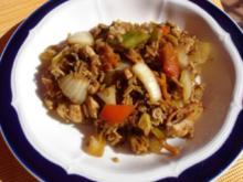 Reste Reis Wok nach Papa - Rezept