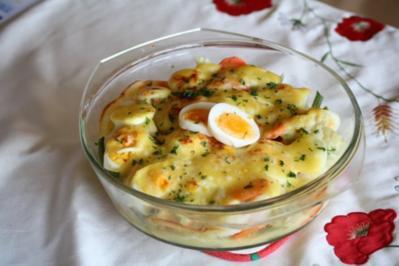 Rezept: Bunter Gemüse-Ei-Auflauf