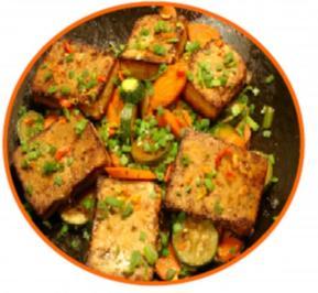 Gemüse mit Tofu - Rezept