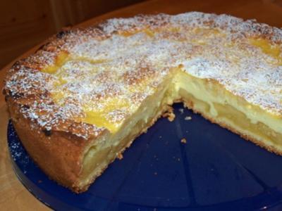 prickelnder Apfel-Käsekuchen - Rezept