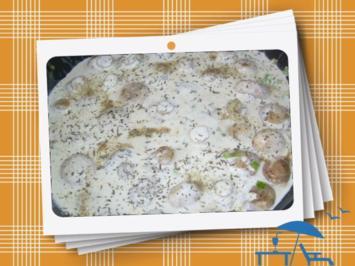 Champignons mit Knoblauchsoße - Rezept