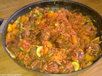 Orientalische Reispfanne - Rezept