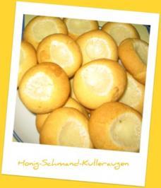 Plätzchen - Honig-Schmand-Kulleraugen - Rezept