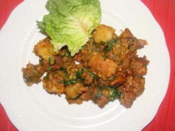 Fleisch : Schweinefleisch-Kartoffelpfanne - Rezept