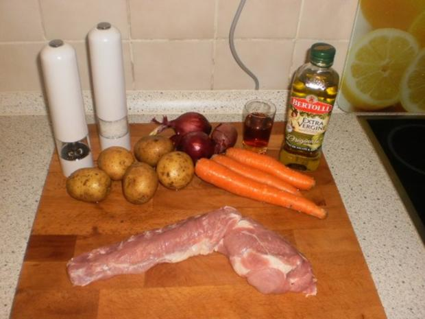 Schweinefilet mit Sherrysoße und Röstkartoffeln - Rezept - Bild Nr. 2