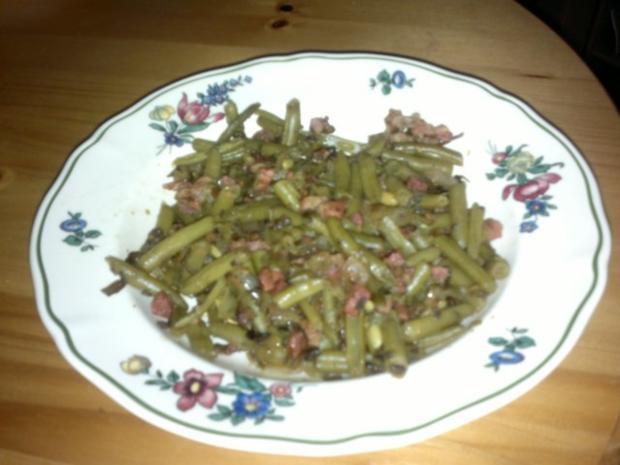 Grüne-Bohnen-Pfanne - Rezept