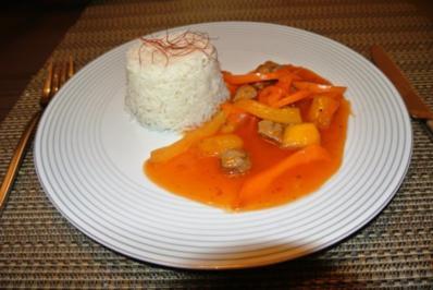 Ente in Mangosauce Süß-sauer - Rezept