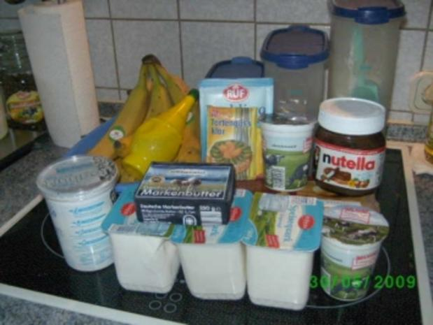 Banana-Split-Käsekuchen - Rezept