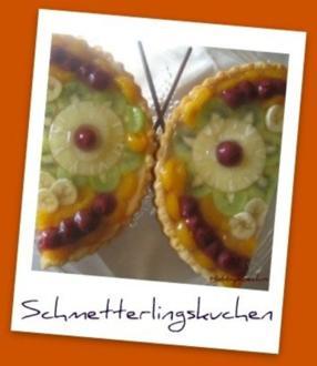 Frühling du kannst kommen - Schmetterling - Obstkuchen - Rezept