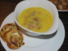 Käse-Champignon-Suppe - Rezept