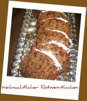 Weihnachtlicher Rotweinkuchen - Rezept