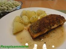Fisch:    LACHSFILET mit Zitronen-Kräuterkruste - Rezept