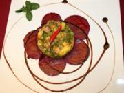 Matjestartar mit Mangos und Rote Bete-Carpaccio - Rezept