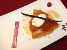 Warme, karamellisierte Apfeltarte mit Madagaskar-Vanille-Crème fraîche - Rezept