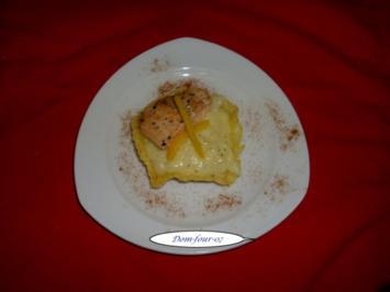 Lachsstreifen auf Spargel-Risotto im Käsekorb - Rezept