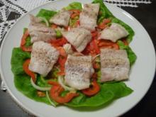 Küchenfee - Rezepte : Gedämpften Alaska-Seelachs auf Salat - Rezept