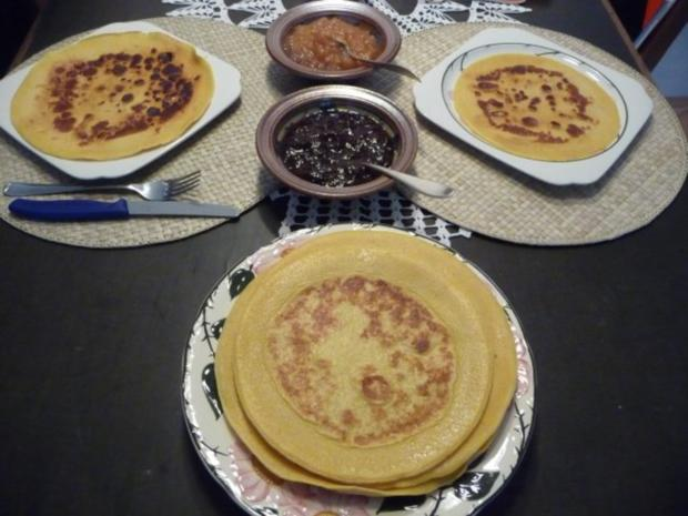 Eiergerichte : Pfannkuchen mit Pflaumenmus oder Quitten-Apfelmus - Rezept - Bild Nr. 5