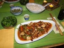 Thai-Wokgericht: Vegetarische Platte in Oestersauce - Rezept