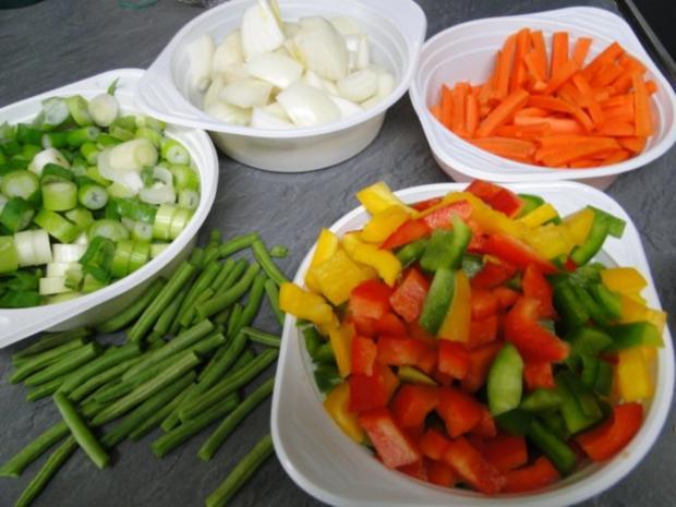 Thai-Wokgericht: Vegetarische Platte in Oestersauce - Rezept - Bild Nr. 2