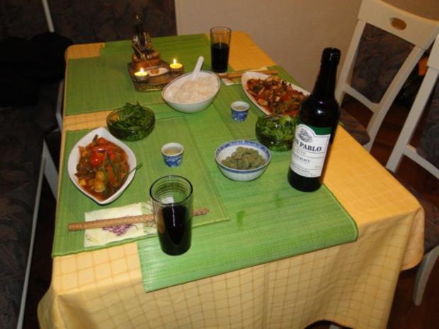 Thai-Wokgericht: Vegetarische Platte in Oestersauce - Rezept - Bild Nr. 13