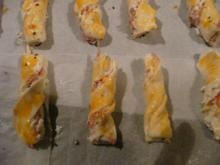BLÄTTERTEIG / Schinken -Käse -Stangen - Rezept