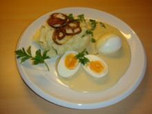 Eier in Senfsoße mit Stampfkartoffeln - Rezept