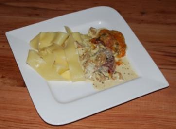 Schweinefilet-Medaillons in Champignon-Sahnesauce - Rezept
