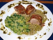 Schweinefilet im Pancetta-Parmaschinkenmantel - Rezept