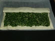 Blätterteig Spinat Strudel - Rezept