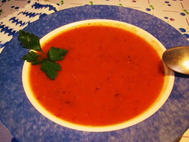 """Tomatensüppchen aus """"frischen"""" Tomaten ... - Rezept"""
