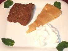 Karamellisierte Apfeltarte an Schokoladen-Variation - Rezept